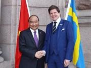 Premier vietnamita se reúne con presidente del parlamento sueco