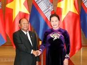 Recibe presidenta de Asamblea Nacional a su par camboyano