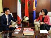 Embajadora de Vietnam en Italia destaca positivo desarrollo de los nexos entre ambos países