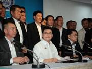 Anuncian en Tailandia coalición entre el Partido Demócrata y el Palang Pracharat