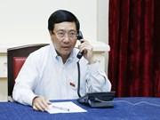Vicepremier vietnamita sostiene conversación telefónica con canciller singapurense