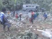 Mueren ocho personas en accidente de autobús en Filipinas