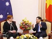Vicepremier vietnamita recibe a canciller de Australia