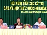Dialoga máxima legisladora de Vietnam con electores en Can Tho