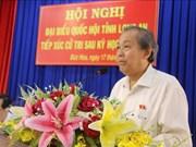 Dialoga viceprimer ministro de Vietnam con electores en la provincia de Long An