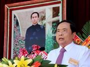 Felicita presidente del Frente de Patria a secta budista de Hoa Hao en el 80 aniversario de su fundación