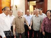 Preside máximo dirigente de Vietnam reunión del Buró Político del Partido Comunista