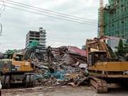 Tres muertos y 10 heridos por derrumbe de edificio en Camboya