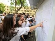 Comienza en Vietnam el examen final de bachillerato 2019