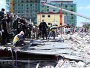 Procesa Camboya a cuatro ciudadanos chinos por derrumbe de edificio que causó 28 muertes