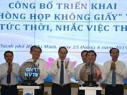 """Aboga Gobierno de Ciudad Ho Chi Minh por """"reuniones sin papeles"""""""
