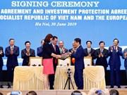 Rubrican Vietnam y UE acuerdos de libre comercio y de protección de inversión