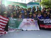 Participan estudiantes de Malasia en Campaña de Voluntarios en Vietnam