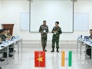 Realizan Vietnam e India ejercicio militar conjunto sobre mantenimiento de la paz