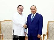 Primer ministro de Vietnam recibe al canciller de Filipinas