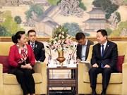 Presidenta parlamentaria vietnamita continúa su visita en China