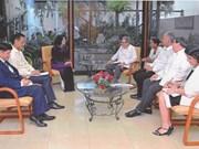 Reciben máximos dirigentes de Cuba a vicepresidenta vietnamita