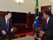 Proyectan Vietnam y Tanzania incrementar nexos comerciales