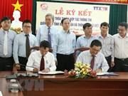 Firman VNA y provincia vietnamita acuerdo de cooperación informativa