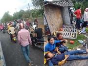 Mueren dos personas y 31 resultan heridas tras accidente de tránsito en Camboya
