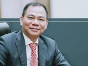 Incluyen a multimillonario vietnamita en la lista de las 200 personas más ricas del mundo