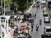 Identifica policía tailandesa a presuntos autores de atentados con bombas en Bangkok