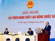 Preside primer ministro de Vietnam conferencia sobre productividad laboral nacional
