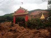 Mueren 15 personas por deslave de tierra en Myanmar