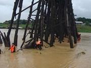 Tailandia: puente de madera más largo al borde del colapso por lluvias