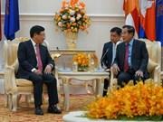 Recibe primer ministro camboyano al vicepremier vietnamita