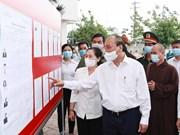 Presidente dialoga con votantes en distritos de Cu Chi y Hoc Mon en Ciudad Ho Chi Minh