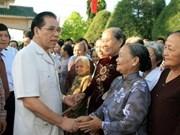 Dirigente partidista efectua gira doméstica