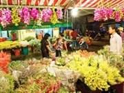 Los mercados de flores en Ha Noi