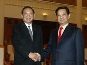 Primer ministro recibe a ex dirigente chino