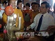 Presidente en celebración del natalicio de Buda