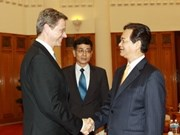 Recibe premier vietnamita a canciller alemán