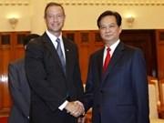 Premier recibe a gobernador de Maryland