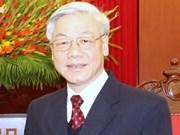 Máximo dirigente partidista de Viet Nam visita Laos