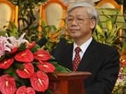 Secretario general del PCV destaca relaciones con Laos