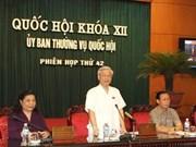 Sesiona Comité ejecutivo del Parlamento vietnamita