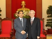 Máximo dirigente vietnamita recibe a delegación laosiana
