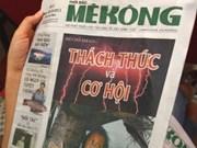 """Presentado al público periódico """"Mekong Times"""""""
