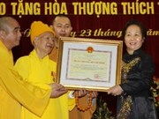 Honran al bonzo superior Thich Thanh Tu