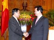 Premier vietnamita recibe a ministros laosiano y palestino