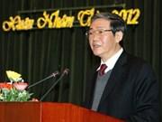 Dirigente partidista vietnamita aborda tareas de prensa