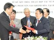 Firman acuerdo comercial Vietnam y Sudcorea