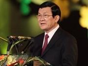 Presidente Truong Tan Sang visita Laos