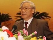 Máximo dirigente partidista de Vietnam en Cuba