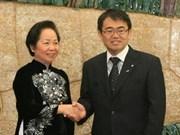 Vicepresidenta vietnamita elogia cooperación japonesa