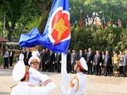 Izan bandera de ASEAN en sede de cancillería